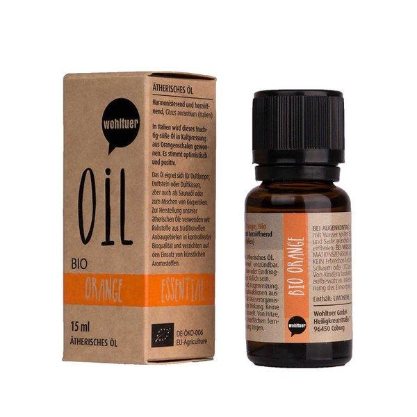 Wohltuer Bio Orangenöl Ätherisches Öl Orange Bio (15ml) Orange