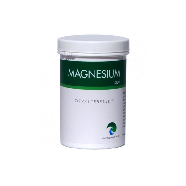 Magnesium Pur 250 Kapseln, Magnesiumcitrat Citrat Vegan