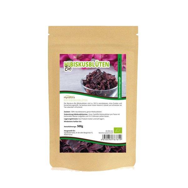 Mynatura Bio Hibiskusblüten ganz Tee Vitamin-C Gehalt 500g