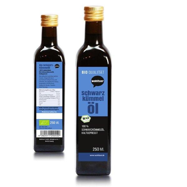 Wohltuer Bio Schwarzkümmel Öl 250 ml - Kaltgepresst (250ml Flasche)