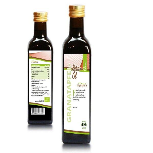 Mynatura Bio Granatapfelkern-Öl I Granatapfel I Hautpflege I Vitaminreich I Mineralien I Naturkosmet