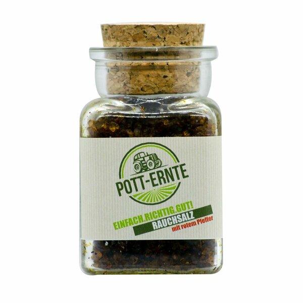 Pott-Ernte Rauchsalz mit rotem Pfeffer 150g Glas