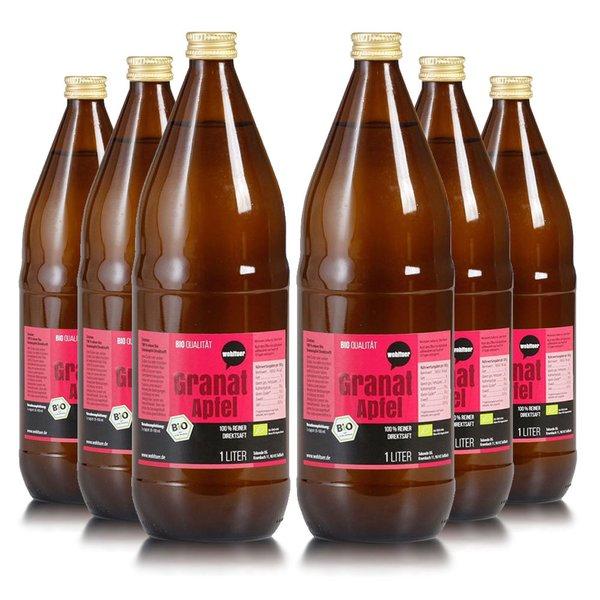 Wohltuer Bio Granatapfel reiner Direktsaft 6x1L Flasche