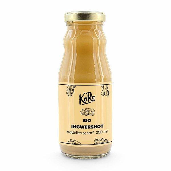 KoRo Bio Ingwerkonzentrat | Glasflasche 200 ml