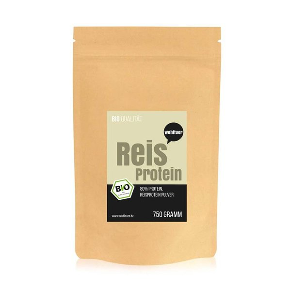 Wohltuer Bio Reisprotein vegane Proteine 750g