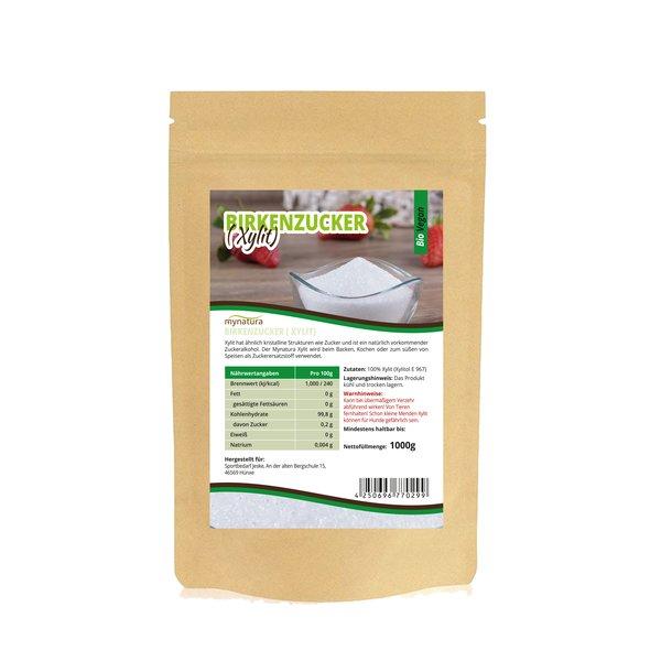 Mynatura Birkenzucker Xylit, Echte aus Finnland ohne Maiszusatz! 1000g Beutel