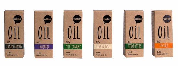 Wohltuer Bio Ätherisches Öl SET Duftöl Aromaöl (6x15ml)