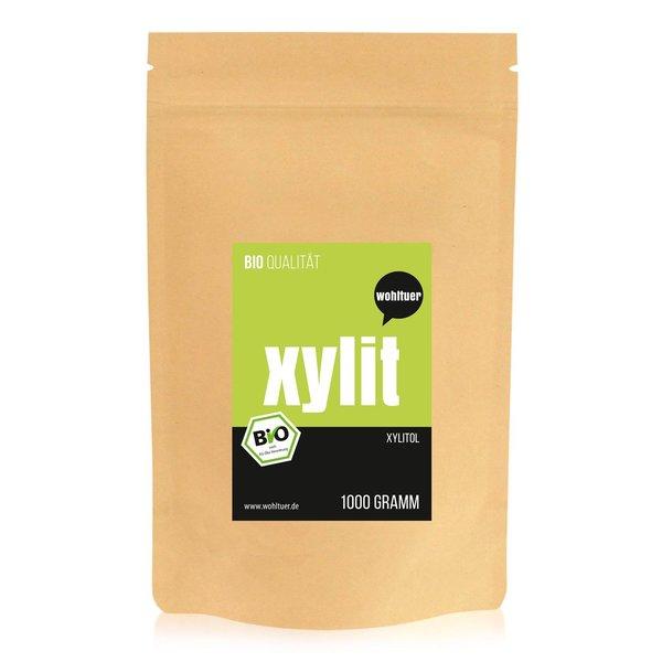 Wohltuer BIO Xylit Zucker Birken Beutel 1000g (BIO QUALITÄT)
