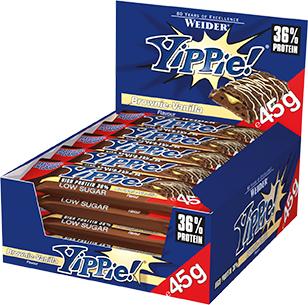 40,72€//kg Weider YIPPIE Bar Nuts Eiweiss Protein Riegel 12 x 45 g Riegel