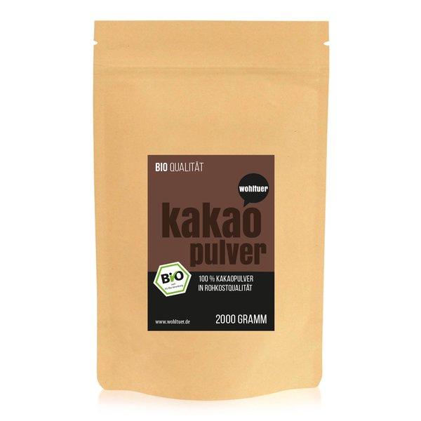 Wohltuer Bio Kakaopulver aus Bali kaltgepresst 2000g