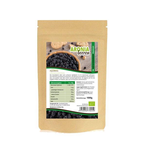 Mynatura Bio Aronia Beeren Aroniabeeren getrocknet Vitamine 1000g