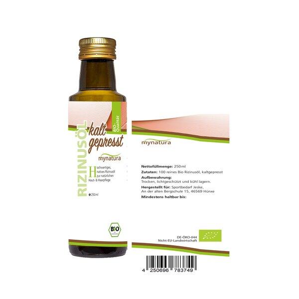 mynatura Bio Rizinusöl, kaltgepresst 250ml