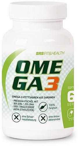 SRS Omega 3, 60 Kapseln Hochwertig Mineralien