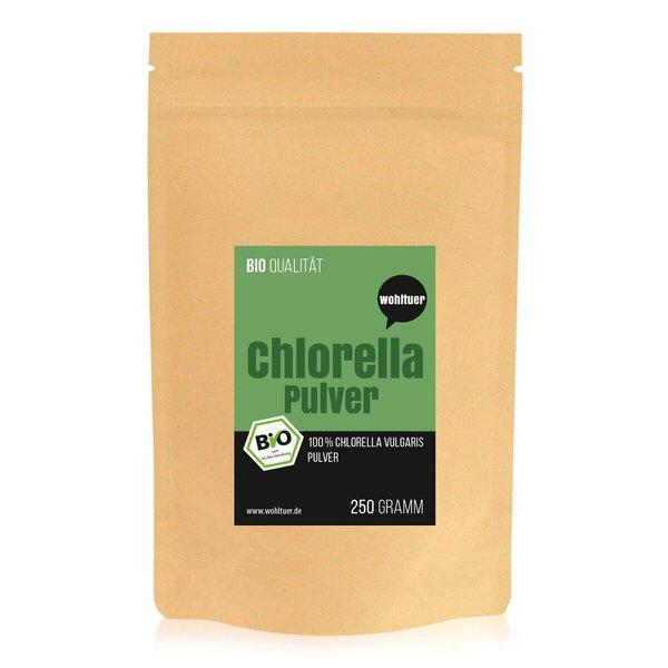 Wohltuer Bio Chlorella Algen in Rohkostqualität 250g (PULVER)