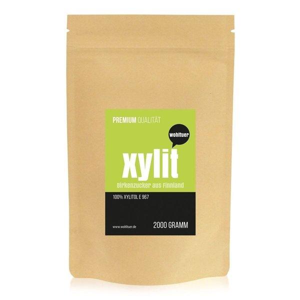 Wohltuer Birkenzucker Xylit aus Finnland ohne Maiszusatz! 2000g Beutel