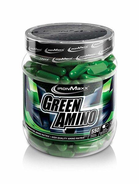 Ironmaxx Green Amino, 550 Aminosäure Kapseln á 650mg