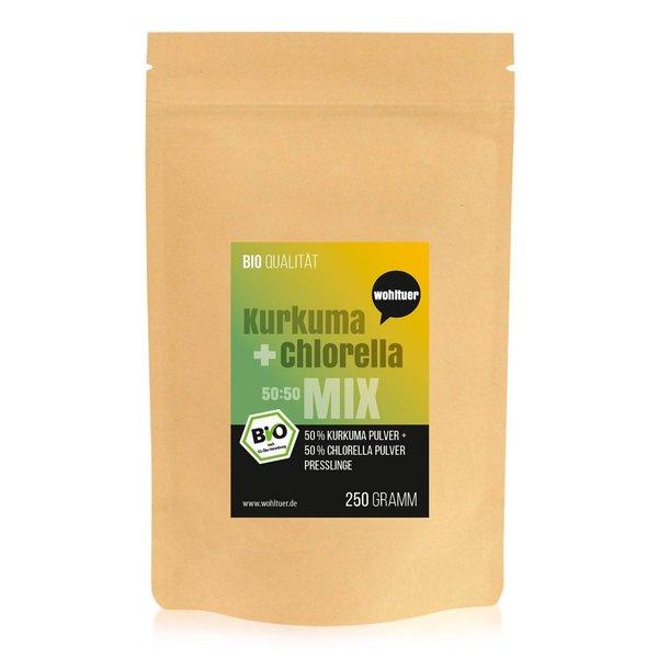 Wohltuer Bio Kurkuma + Chlorella Bio Algen Superfood Mix Tabletten MIX