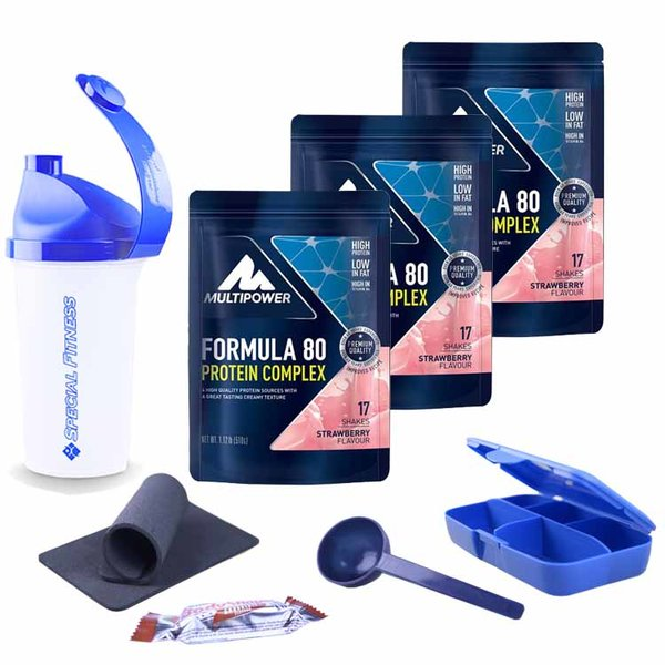 MULTIPOWER | 3 x Formula 80 Evolution Protein 3 x 510g Beutel