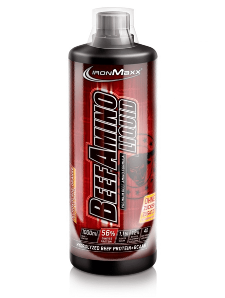 Ironmaxx Beef Amino Liquid (1000ml Flasche) Cola-Lime