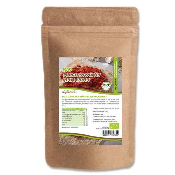 Mynatura Bio Tomatenwürfel getrocknet 10x10mm