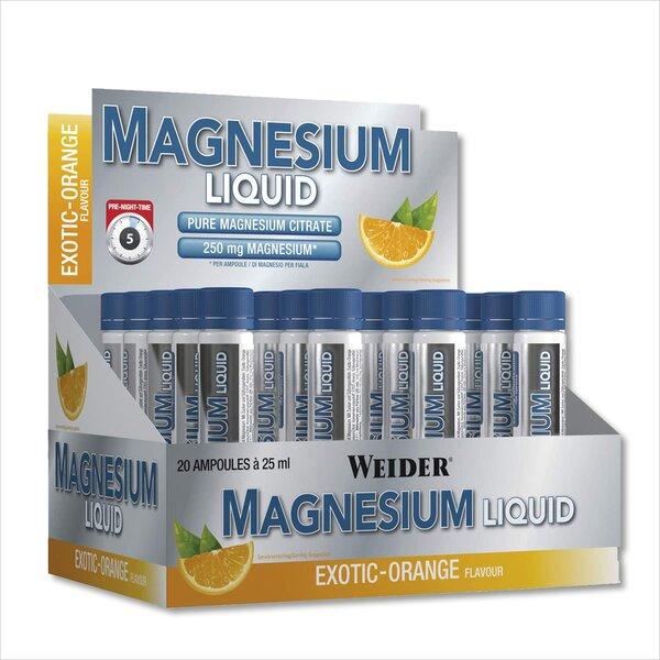Weider Magnesium Liquid 20 x 25ml Ampullen Exotic-Orange