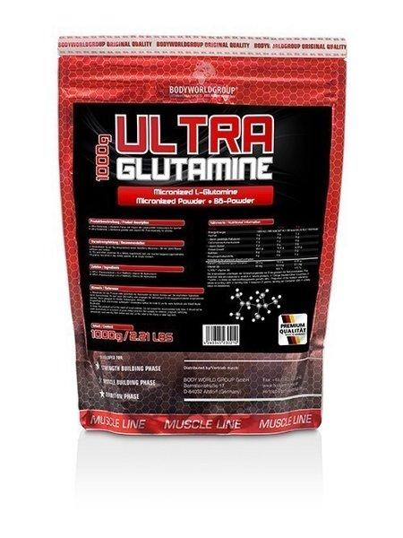 BWG Ultra L-Glutamin, +Vitamin B6 (1000g Beutel)