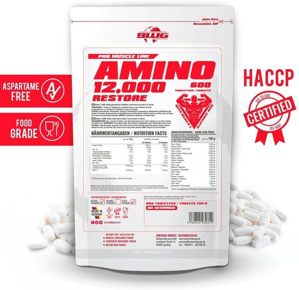 BWG Amino Restore 12OOO + Bcaa's, 600 Tabl.a 1200mg