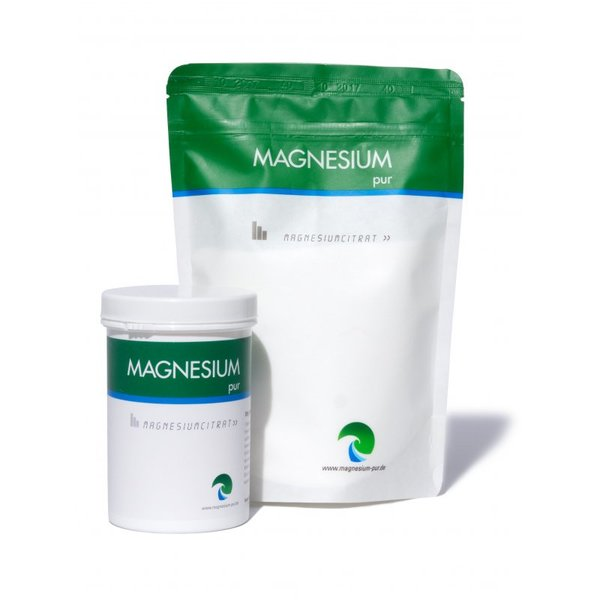 Magnesium Pur Starterset 300g Dose + 500g Beutel Citrat Magnesiumcitrat SPARSET