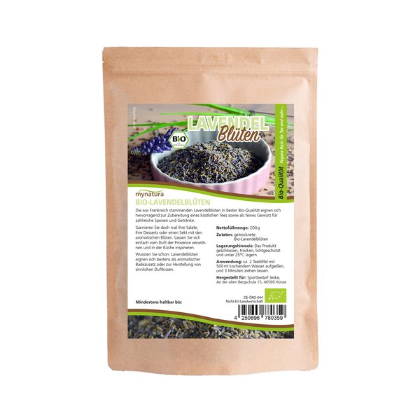 Mynatura Bio Lavendelblüten Tee Natur 200g
