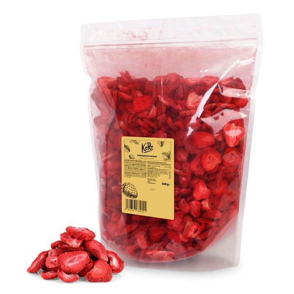 Koro Gefriergetrocknete Erdbeerscheiben | 350 g Perfekt für Müsli oder als Snack