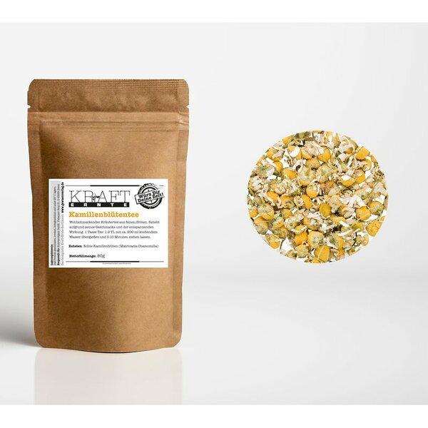 Kraft-Ernte Kamillenblüten-Tee (Matricaria Chamomilla) 80g