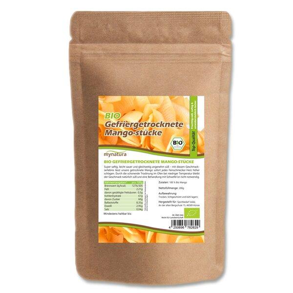 Mynatura Bio Gefriergetrocknete Mangostücke 200g