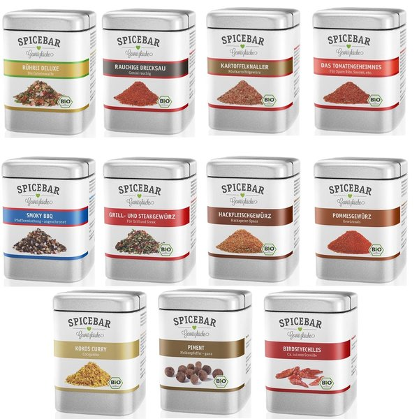 Spicebar Kombi Gewürzen, Fleisch, Salat , Pommes, Kartofeln,Grillen