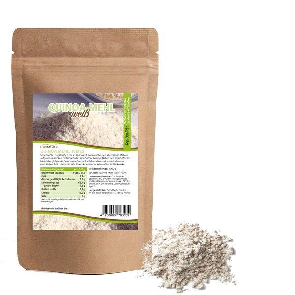 Mynatura Quinoa Mehl, weiss ab 1000g - Mehl Alternative Kochen Backen
