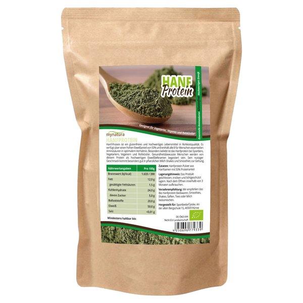 Mynatura Bio Hanfprotein Eiweiß Pulver Glutenfrei 1kg