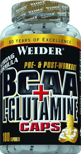 Weider BCAA + Glutamin | 180 Kapseln
