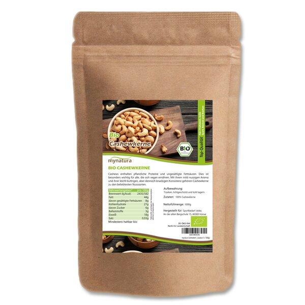 Mynatura Bio Cashewkerne, ganz - Cashew Nuss Nüsse Snack