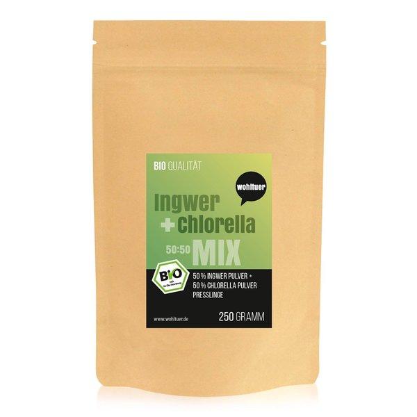 Wohltuer Bio Ingwer + Chlorella Bio Algen Superfood Mix Tabletten 250g MIX