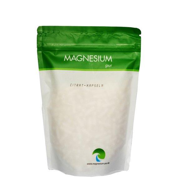 Magnesium Pur 500 Kapseln Magnesium citrat Citrat pur vegan