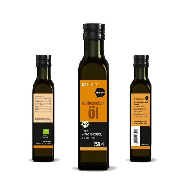 Wohltuer BIO Aprikosenkernöl kaltgepresst 250ml