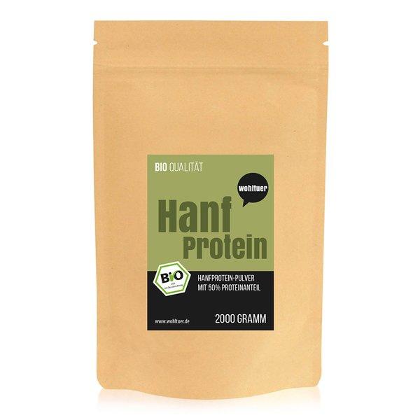 Wohltuer Bio Hanfprotein 2000g