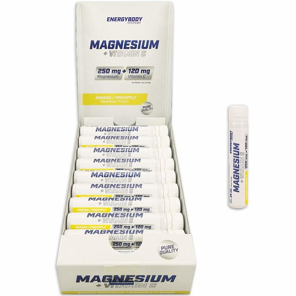 Energybody Magnesium (20 x 25ml. Fläschchen) Ananas-Papaya
