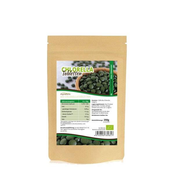 Mynatura Bio Chlorella Tabletten Algen in Rohkostqualität 250g Tabs