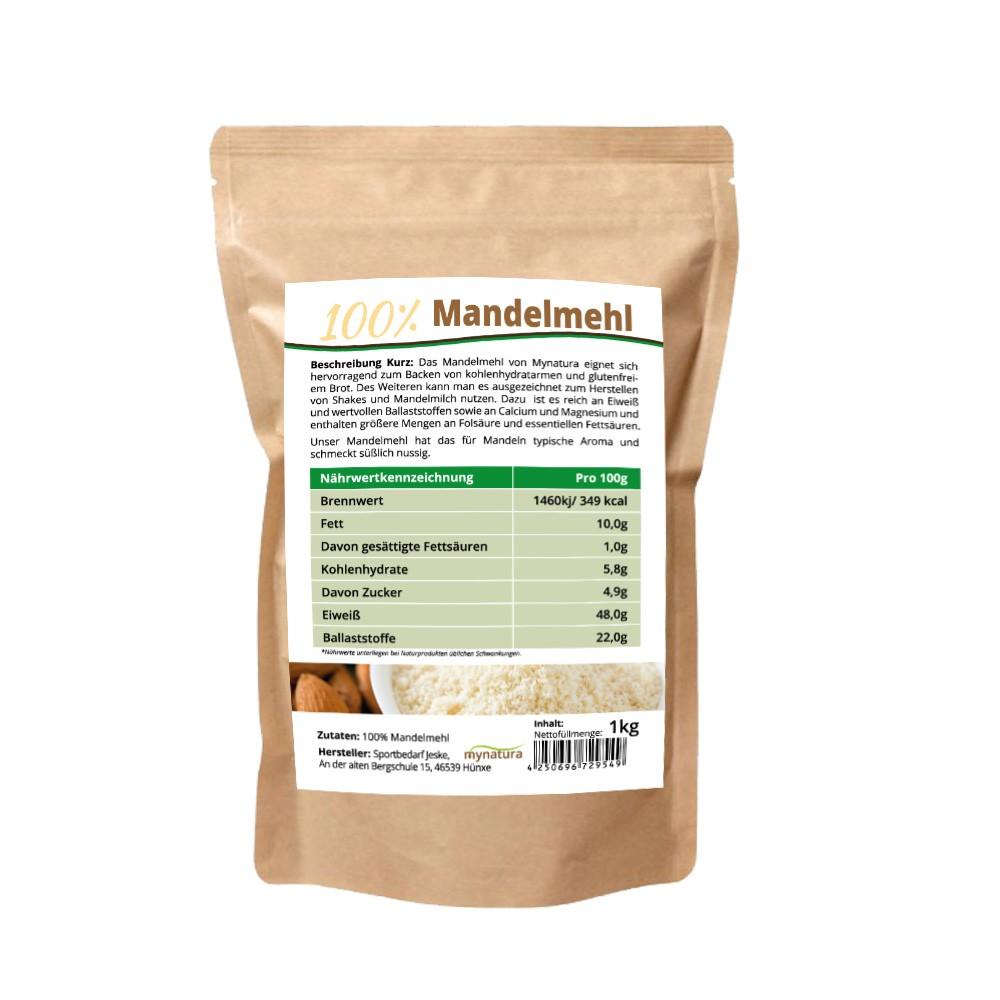 17,45€//kg Mynatura Bio Macadamia Mehl entölt 2x1000g I Backen I Fitness I Eiweiß