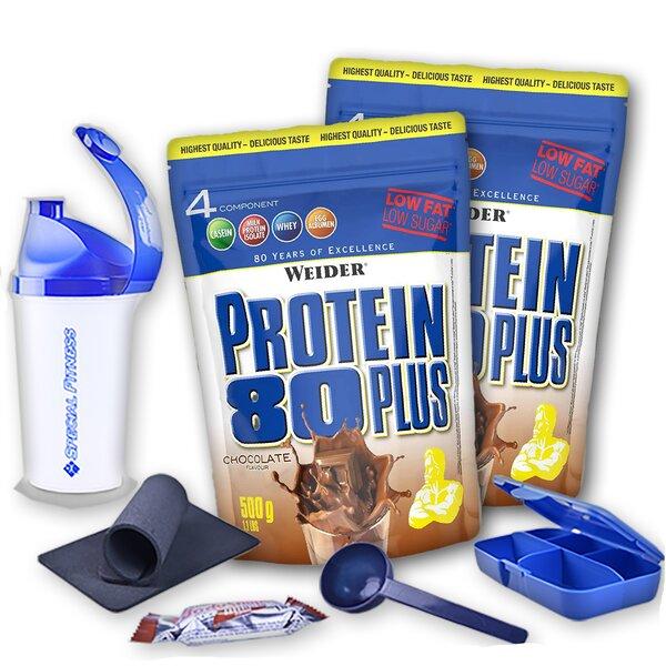 Weider Protein 80 Plus | Whey-Egg-Eiweiß | 2 x 500g Beutel