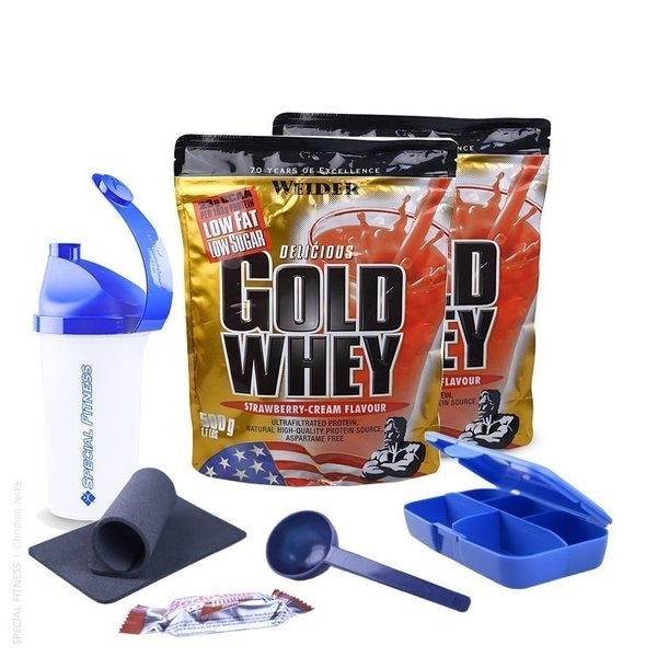 Weider Delicious Gold Whey Protein | 2 x 500g Beutel