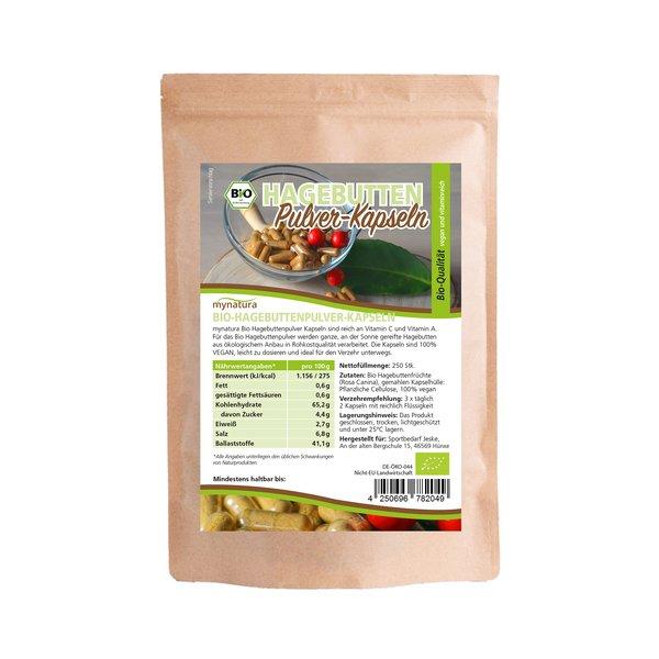 Mynatura Bio Hagebuttenpulver Kapseln Vitaminreich 200stk
