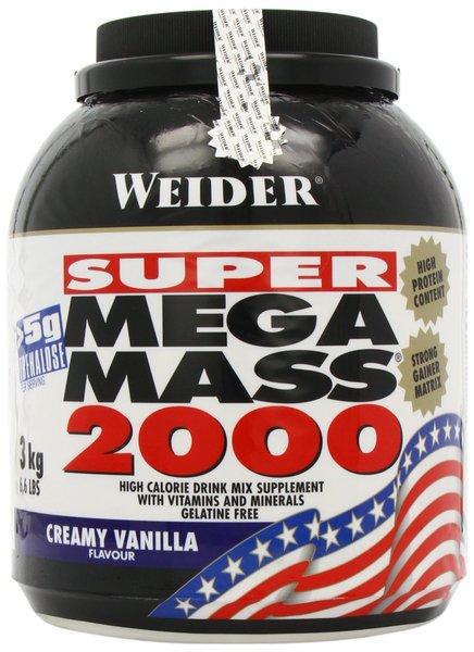 Weider Super Mega Mass 2000, Weight Gainer, 3000g Dose