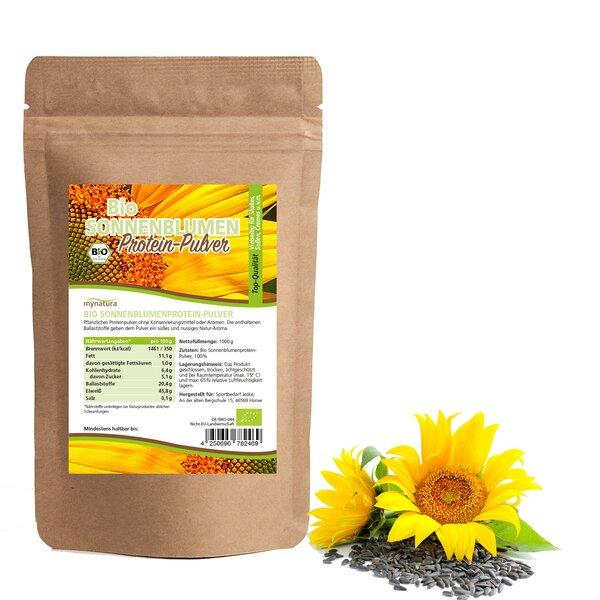 mynatura Bio Sonnenblumen Mehl Protein Pulver 1000g