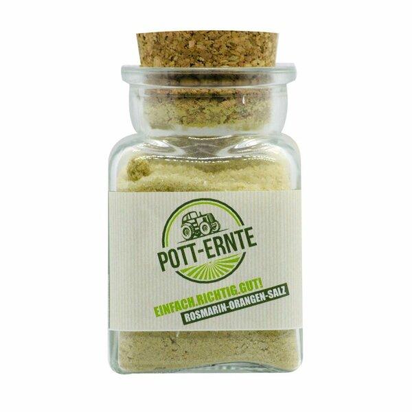 Pott-Ernte Rosmarin-Orangen-Salz 150g Glas